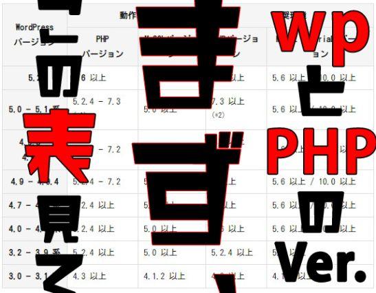 wordpress php バージョン 対応表