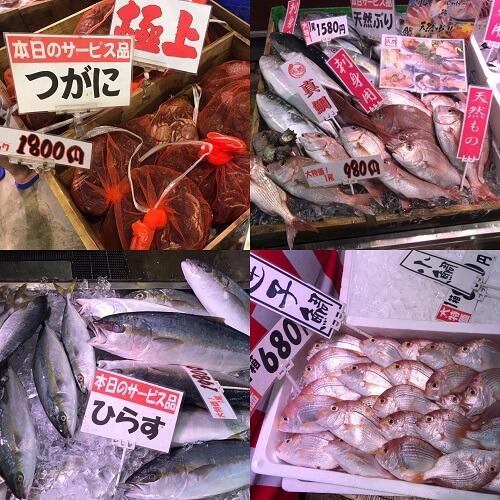 魚 博多魚市 博多街道魚市 はかたがいどううおいち