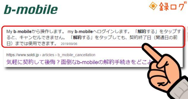 格安SIM ネット 解約 b-もびぇ